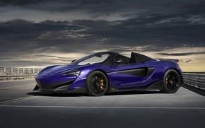 Picture McLaren, supercar, Spider, 2019, 600LT, Lantana Purple