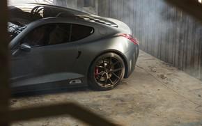 Picture the rear part, Berlinetta, Puritalia, V8, 2019, 965 HP, the will