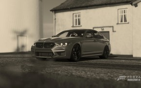 Picture HDR, BMW, House, Car, Game, 5, UHD, 4K, M5, Xbox One X, F90, Forza Horizon …