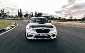 Picture speed, BMW, front view, racing track, 2018, Competition, F87, BMW M2, M Performance Accessories