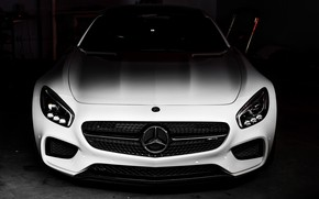 Picture Mercedes, AMG, Shadow, Black/White