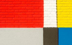 Picture color, wall, texture, bricks