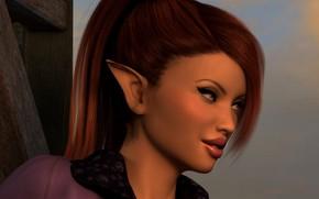 Picture elf, makeup, girl