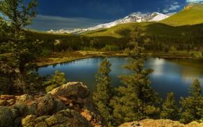 Picture landscape, nature, lake, beauty
