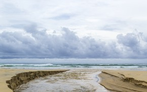Picture sand, sea, wave, beach, summer, the sky, shore, summer, beach, sea, blue, seascape, sand, wave