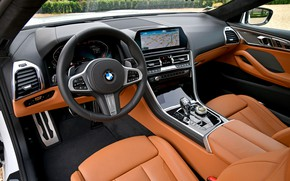 Picture coupe, devices, BMW, salon, 2018, 8-Series, Eight, G15, 840d xDrive M Sport