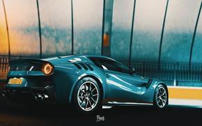 Picture Auto, Machine, Ferrari, Supercar, Rendering, F12, The Ferrari F12, Game Art, Ferrari F12 TDF, Forza ...