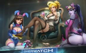 Picture girls, trio, Overwatch