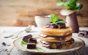 Picture chocolate, cream, chocolate, Blinky, Iryna Melnyk