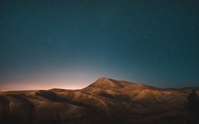 Picture Sky, desert, mountains, stars