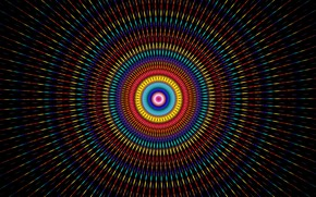 Picture colorful, abstract, Circles, texture, digital art