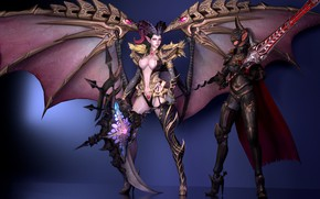 Picture weapons, girls, wings, demons