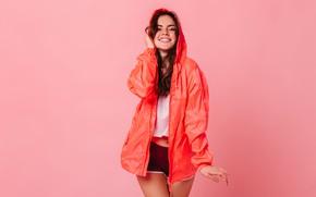 Picture girl, sweetheart, shorts, cloak, cute