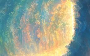 Picture leaves, light, corridor