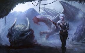 """Picture blood, dragon, """" , Wild Hunt, The Witcher3, obezglavlivanii"""
