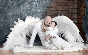 Picture angel, father, son, .boy