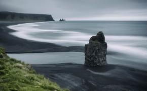 Picture South Iceland, Dyrhólaey, Arnardrangur Reynisfjara Beach