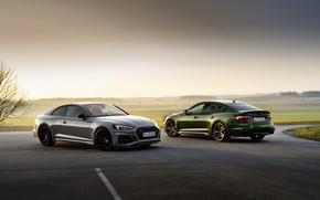 Picture Audi, coupe, TFSI, RS 5, 2020, Sportback, RS5 Coupe, V6 Biturbo, 450 HP, RS5 Sportback