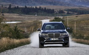 Picture movement, dust, BMW, 2018, crossover, SUV, 2019, BMW X7, X7, G07