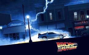 Picture Auto, Lightning, Machine, Movie, Fantasy, Back to the future, DeLorean DMC-12, Art, Art, The film, …