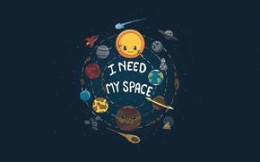 Picture The sun, UFO, Minimalism, Saturn, The moon, Style, Earth, Background, Moon, Mars, Pluto, Jupiter, Neptune, …