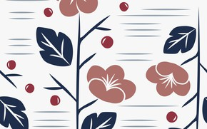 Picture flowers, background, texture, style, pattern, floral