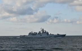 Picture frigate, Admiral Essen, author Erne