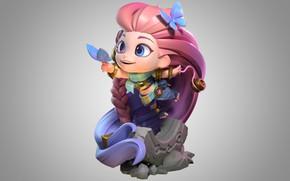 Picture fantasy, the game, art, figure, children's, Riot Games, DragonFly Studio, Zoe XL figure