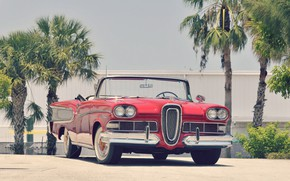 Picture Red, Convertible, Luxury, Edsel Pacer