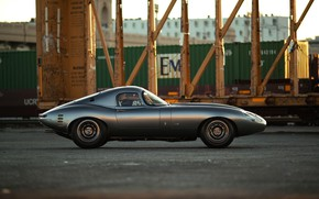 Picture Jaguar E-Type, Sports car, Side view, Streamlined
