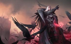 Picture crows, vampire, Swain, Legends of Runeterra