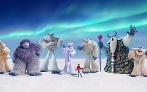 Picture snow, cartoon, people, cartoon, characters, Yeti, Smallfoot, Smallfoot