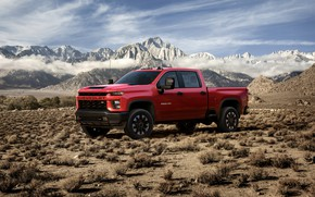 Picture desert, Chevrolet, pickup, Silverado, 2020, 2500 Heavy Duty