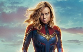 Picture fiction, costume, MARVEL, Carol Danvers, Captain Marvel, Captain Marvel, Brie Larson, Brie Larson