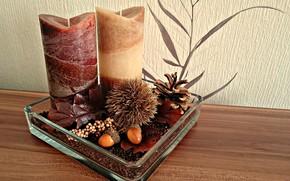 Picture autumn, interior, candles, decor