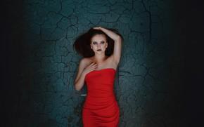 Picture girl, makeup, dress, Alexander Drobkov-Light, Eva Lapenko