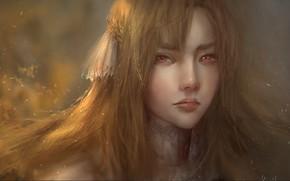 Picture look, girl, face, portrait, art, Asuna Yuuki, Asuna Yuuki, Sword Art Online: Alicization, Sword Art …