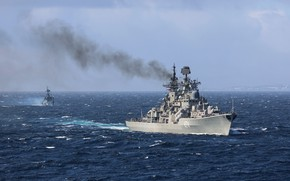 Picture exercises, destroyer, Admiral Ushakov