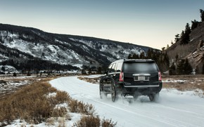 Picture 2018, GMC, SUV, Denali, on the road, Yukon