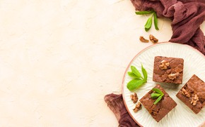 Picture pie, nuts, dessert, chocolate