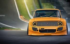 Picture Auto, Machine, Orange, 2101, VAZ, The front, Lada, VAZ, VAZ-2101, Dmitry Strukov, Dizepro, by Dmitry …