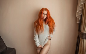 Picture wall, redhead, look, A Diakov George
