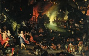 Picture Jan Brueghel The Elder, Hades and Persephone, Orpheus, in the afterlife, musicology and singing