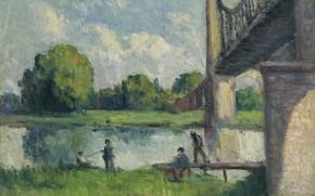 Picture landscape, picture, 1916, Maximilien Luce, Maximilien Luce, The bridge on the Outskirts of Angers
