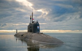 Picture boat, underwater, atomic, Severodvinsk
