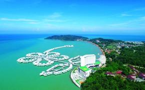 Picture sea, shore, the hotel, resort, Bungalow, Malaysia, Lexis Hibiscus Port Dickson