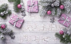 Picture branches, holiday, Christmas, gifts