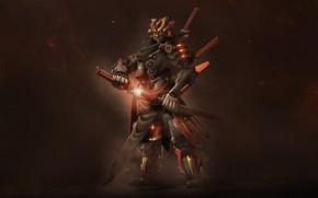 Picture Japan, Armor, Style, Japan, Samurai, Fantasy, Art, Fiction, Katana, Bot, Katana, Sword, Armor, Swords, Mecha, …