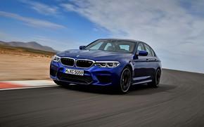 Picture asphalt, movement, BMW, sedan, BMW M5, 2017, M5, F90