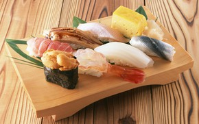 Picture fish, sushi, rolls, seafood